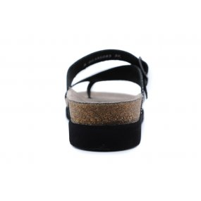 Helen teenslipper voetbed soft zwart metallic