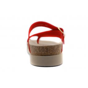 Helen teenslipper rood metallic