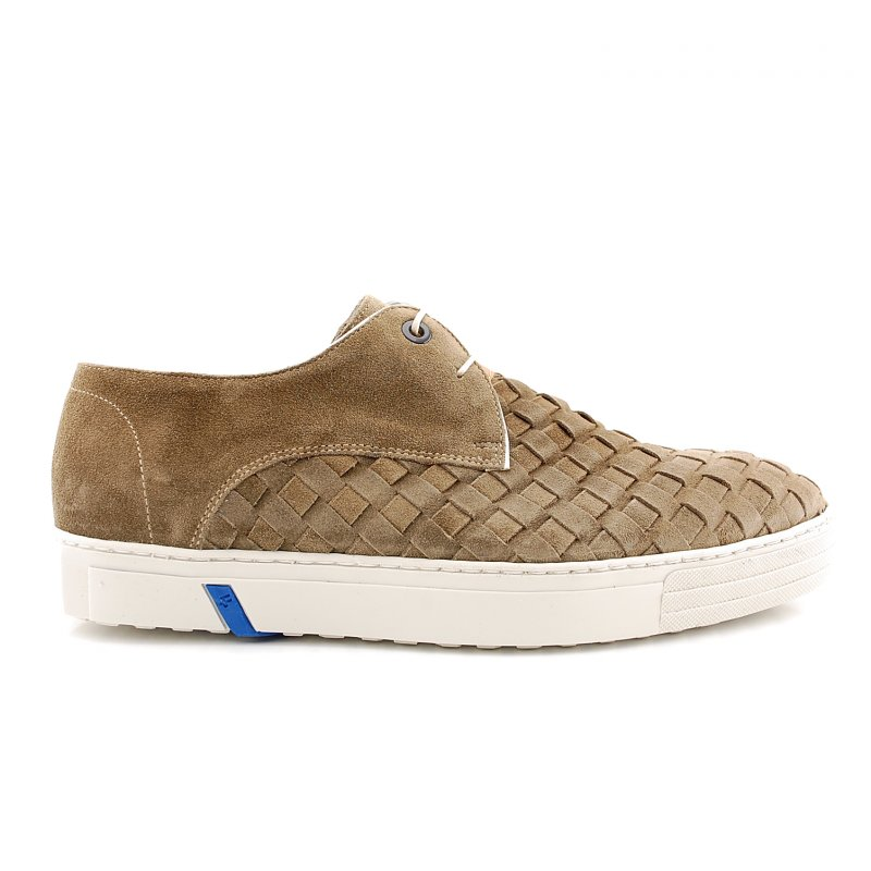 14451/01 sneaker taupe suede woven