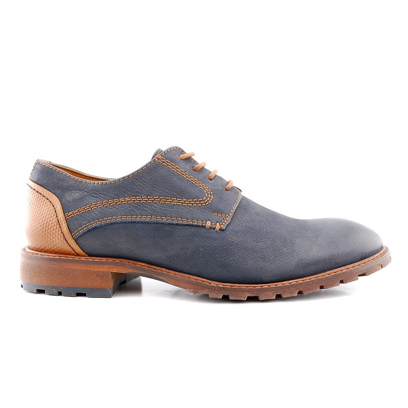 15.1250.01 veter rubberzool Mascherano navy-tan