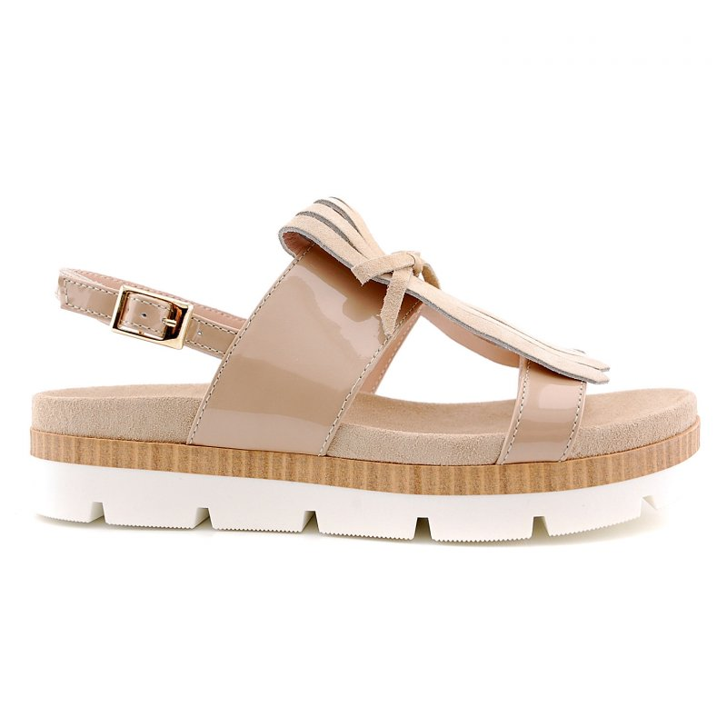 ss1716s302 sandaal taupe lak