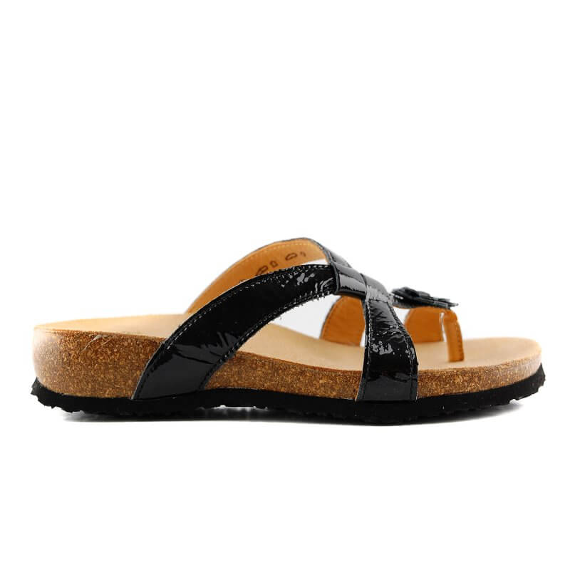 86332-00 teenslipper zwartlak