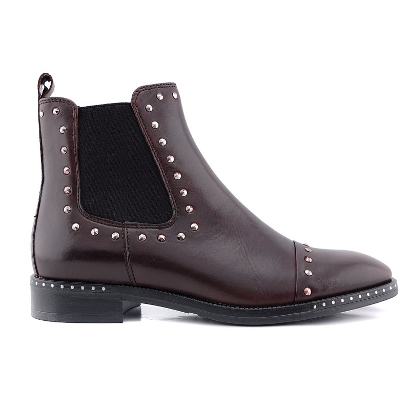 86b-002 chelsea boot  studs bordoleer