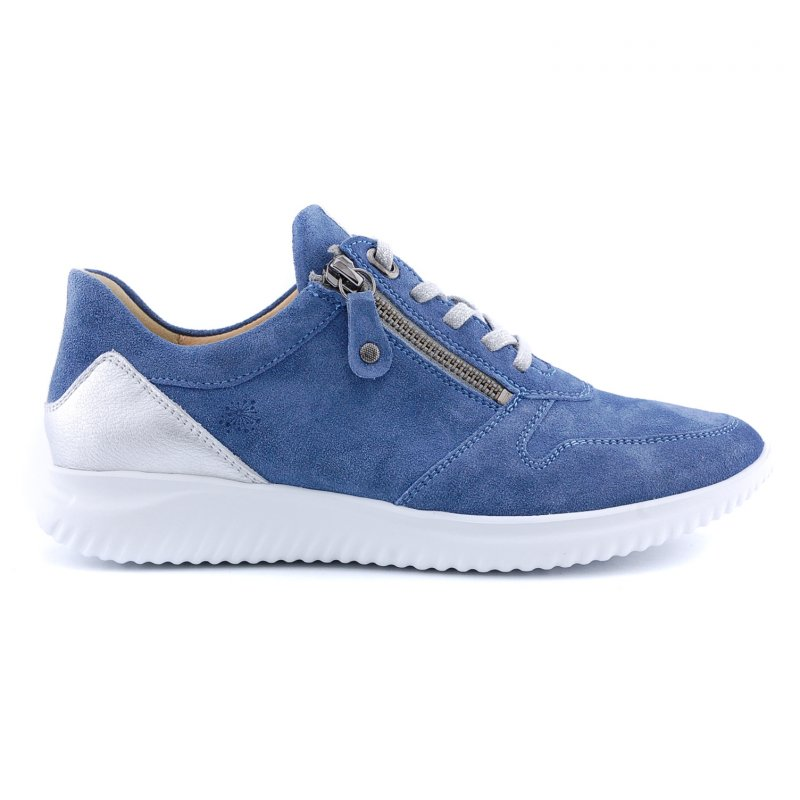 110462 veter rits jeans blauw suede