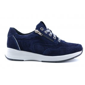 Hally H sneaker blauw suede
