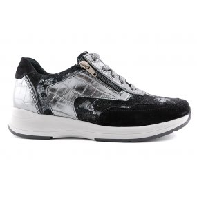 Hally H sneaker antracite metallic