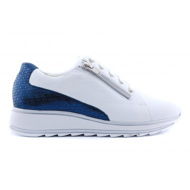 6221 H sneaker its wit/ blauwhiel