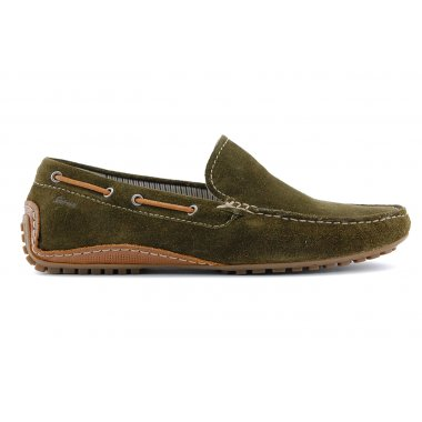 34715 Callimo instapper moccasian groen suede