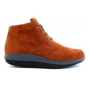 208762 Halfhoog boot rollzool roest suede