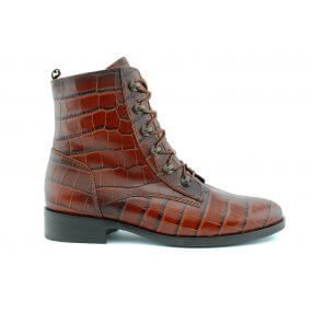 32.745.12 G boot veter/rits cognac croco