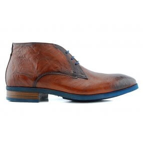 22182 H boot gekleed cognac leer