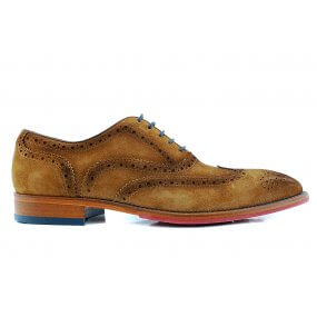 479100 veter gekleed cognac suede brook