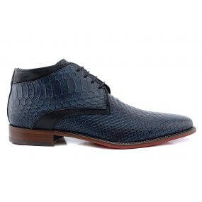 307 boot gekleed blauw croco leer