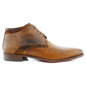 307 boot gekleed cognac croco leer