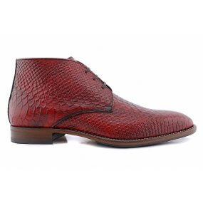 111 boot gekleed bordo croco leer