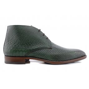 111 boot gekleed groen croco leer