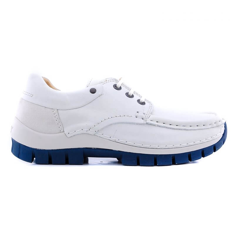 470170108 veterschoen off white blauwezool