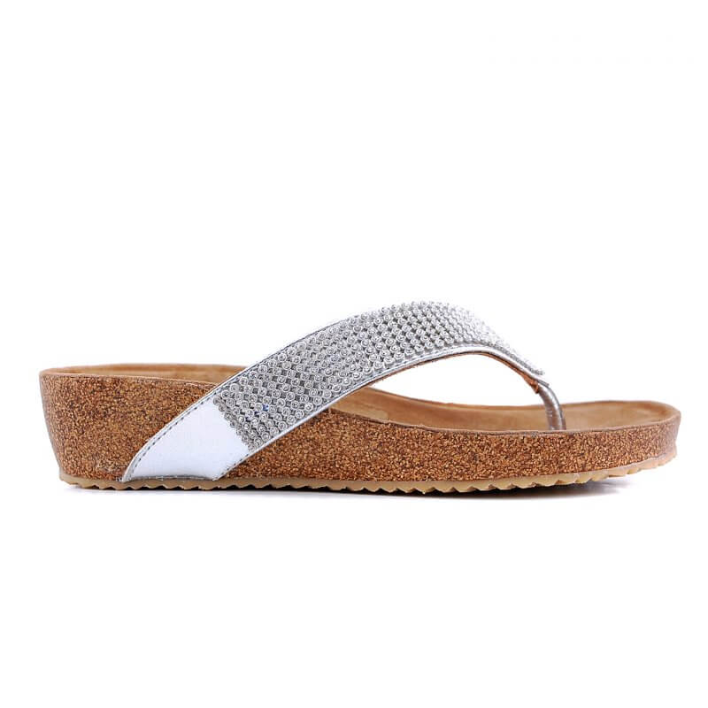 75.461 teen slipper zilver strass