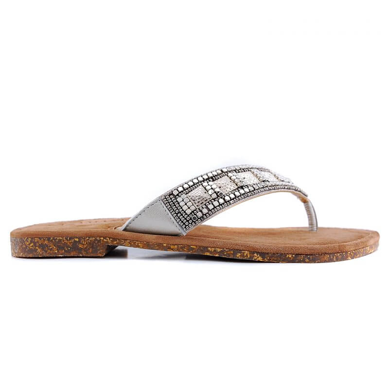 33.603 teen slipper zilver metal