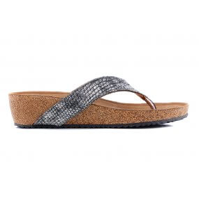 75.462 teenslipper voetbed pewter
