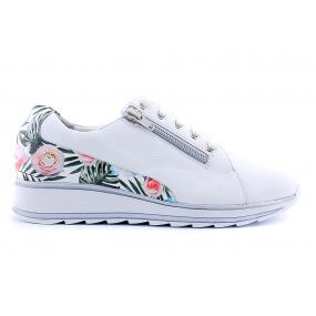 6221 H sneaker its wit/ bloemhiel