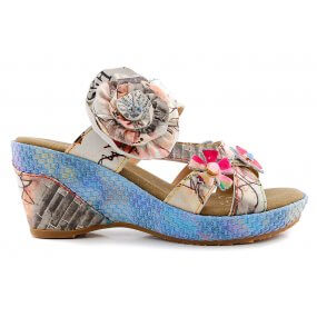 beaute 05 slipper sleehak taupe bloem