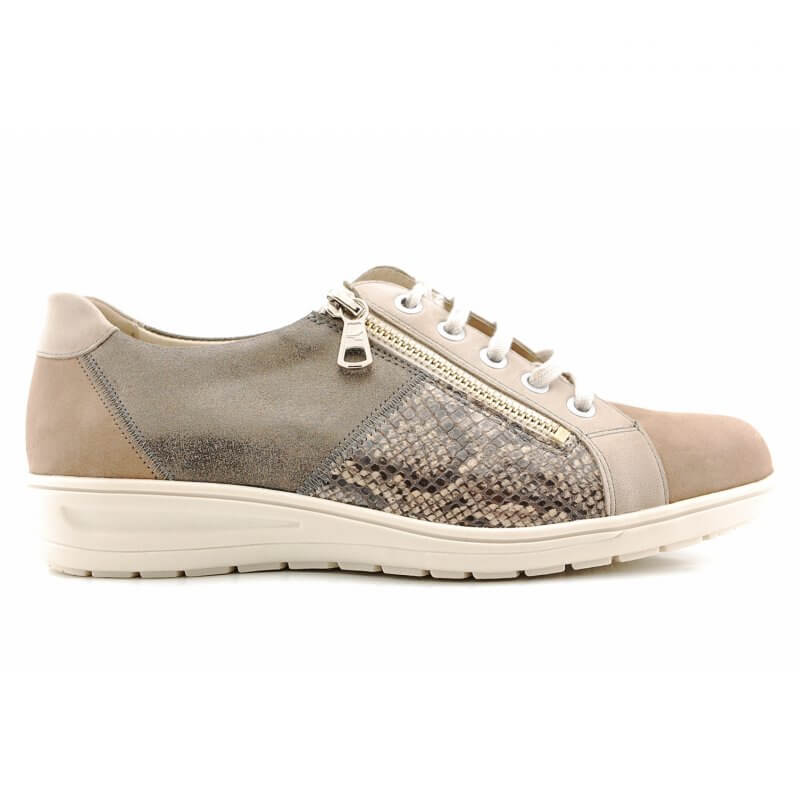27001 Heaven H veter rits taupe/brons/croco