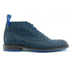 10203/22 H boot veter blauw printcroco
