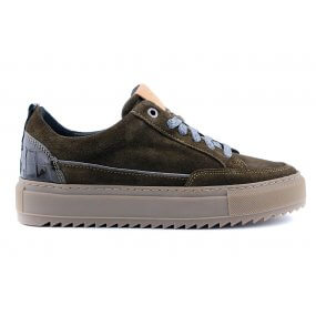 Maddy H sneaker olive suede dikke zool