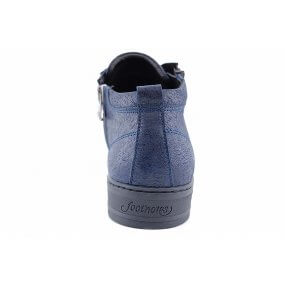 22.001.H Maddy bluaw halfhoog sneaker rits